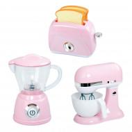 PLAYGO virtuviniai prietaisai (trintuvas, plakiklis ir skrudintuvė) rožinės spalvos, 38236 38236