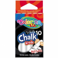 COLORINO KIDS balta kreida, nedulkanti (10 vnt.), 33138PTR 33138PTR