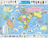 LARSEN dėlionė Pasaulio žemėlapis, K1LT K1LT