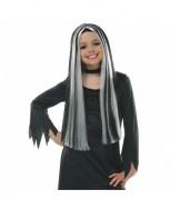 AMSCAN Raganos perukas juodai baltas, 840380-55 840380-55