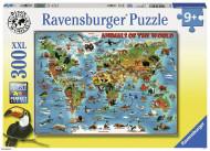 RAVENSBURGER dėlionė Gyvūnai visame pasaulyje, 300d., 13257 13257