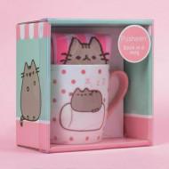 PUSHEEN rinkinys Marshmallow (puodelis + kojinės), PUSHSMMSH PUSHSMMSH