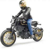 BRUDER motociklas Scrambler Ducati Cafe Racer su vairuotoju, 63050 63050