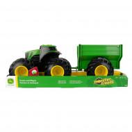 JOHN DEERE žaislinis traktorius su priekaba, 46260 46260