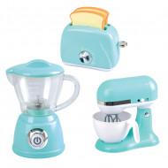PLAYGO virtuviniai prietaisai (trintuvas, plakiklis ir skrudintuvė) mėlynos spalvos, 38226 38226