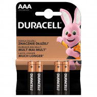 DURACELL baterijos AAA, 4 vnt., DURB055