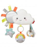 SKIP HOP Silver Lining vežimėlio žaislas debesėlis su barškučiais, 307166 307166