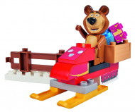 SIMBA BIG MASHA AND THE BEAR konstruktorius Bear's snowmobile, 800057101 800057101
