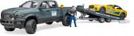 BRUDER automobilis RAM 2500 Power Wagon su priekaba, 2504 2504