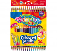 COLORINO CREATIVE Triangular coloured pencils 18 pcs/36 colours, 68512PTR 68512PTR
