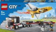 60289 LEGO® City Great Vehicles Aviacijos šventės reaktyvinio lėktuvo transporteris 60289
