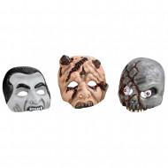 AMSCAN Plastikinės kaukės 3 vnt, 998381 998381