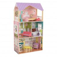 KIDKRAFT medinis lėlių namas su baldais Poppy, 65959 65959