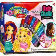 COLORINO CREATIVE kreidelės plaukams 10 spalvų, 68635PTR 68635PTR
