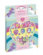 TOTUM lipdukų rinkinys Unicorn Sticker Set, 3 lipdukų lapai ir kartono dekoracija, 071384 71384