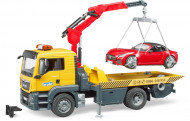 BRUDER auto vilkikas MAN TGS su Roadster automobiliu, 03750 03750