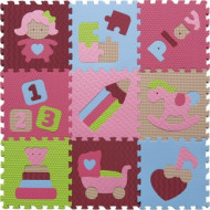 BABYGREAT kilimėlis-dėlionė Įdomieji žaislai, rožinės ir žalios sp., 5002022 5002022