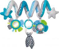 CANPOL BABIES interaktyvus lovelės/ vežimėlio žaislas spiralė Zig Zag, 68/063_blu 68/063_blu
