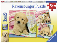 RAVENSBURGER dėlionė Mieli šuniukai, 3vnt, 49d., 8065 8065