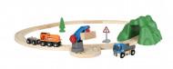 BRIO traukinių rinkinys su traukinio  bėgiais Starter Lift & Load Set, 33878 33878