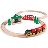 BRIO traukinių rinkinys medinis, 8 dalys, 33028 33028