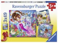 RAVENSBURGER dėlionė Žavios undinės, 3vnt, 49d., 8063 8063
