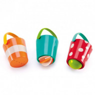 HAPE Vonios žaislų rinkinys Linksmieji kibirėliai, E0205 E0205