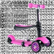 YVOLUTION paspirtukas su sėdyne 3in1 YGlider, rožinis, 100073 100073