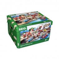 BRIO RAILWAY geležinkelio rinkinys liukso klasės, 33052 33052