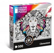 CLEMENTONI Spalvinama dėlionė - Liūtas 500pcs., 35051 35051
