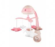 CANPOL BABIES 3in1 muzikinė karuselė su projektoriumi ir pliušinias žaislais, rožinė 75/100_pin 75/100_pin