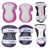 GLOBBER kelių ir alkūnių apsaugų rinkinys, rožinis Junior XS RANGE B (25-50KG), 541-110 541-110