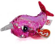 TY Teeny Tys sequin rožinis narvalas NELLY, TY42403