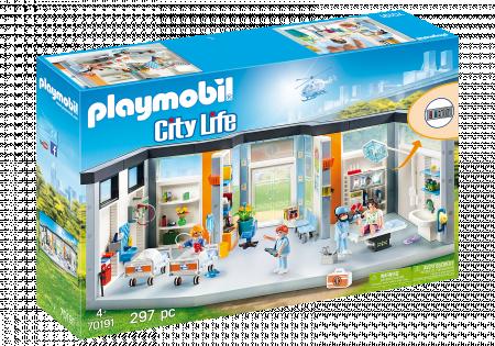 PLAYMOBIL CITY LIFE apstatytas ligoninės sparnas, 70191 70191