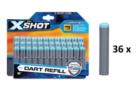 XSHOT šoviniai Dart Refill, 36 vnt., 3618 3618