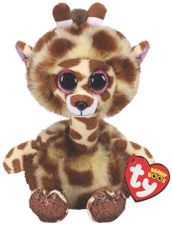 TY Beanie Boos pliušinė žirafa ilgu kaklu GERTIE 23cm, TY37402 TY37402