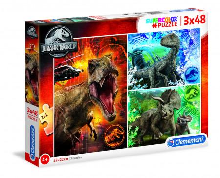 CLEMENTONI Dėlionė Jurassic world 3X48pcs., 25250 25250