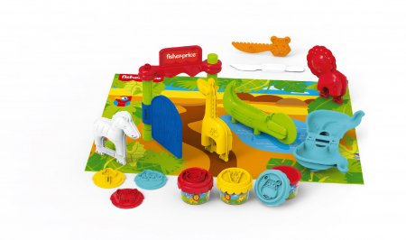 BILDO DOUGH plastilino rinkinys Safari Fisher Price, 8027 8027