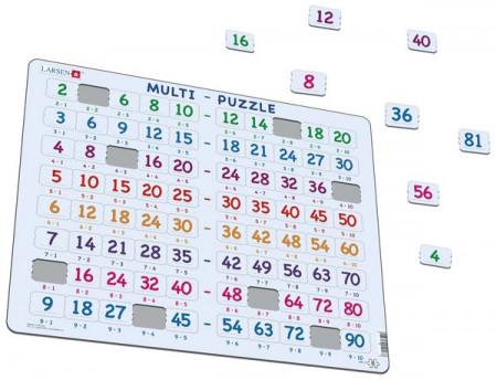 LARSEN dėlionė išmok daugybos lentelę, AR17 AR17