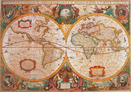 CLEMENTONI Dėlionė Senovinis žemėlapis 1000pcs., 31229 31229
