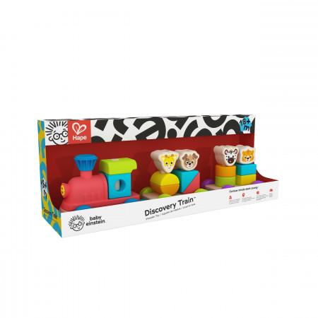 HAPE Baby Einstein's stumdomas žaislas Medinis traukinukas, 800809 800809