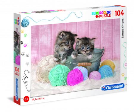 CLEMENTONI Dėlionė Mieli kačiukai 104pcs., 27115 27115