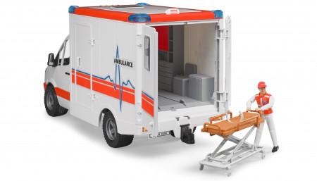 BRUDER greitosios pagalbos automobilis su figūrėle, 02536 02536