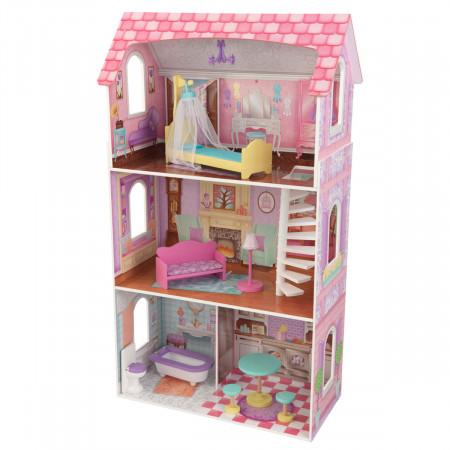 KIDKRAFT medinis lėlių namas su baldais Penelope, 65179 65179