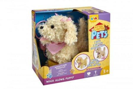 PITTER PATTER PETS kreminės spalvos šuniukas su kaspinu, 315-11118-B 315-11118-B
