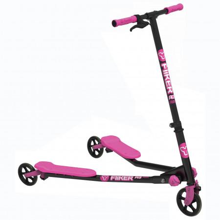 YVOLUTION paspirtukas YFliker A3, juodas/rožinis, 100020 100020