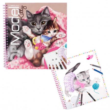 TOPMODEL spalvinimo knyga Create Your Kitty, 10469 10469