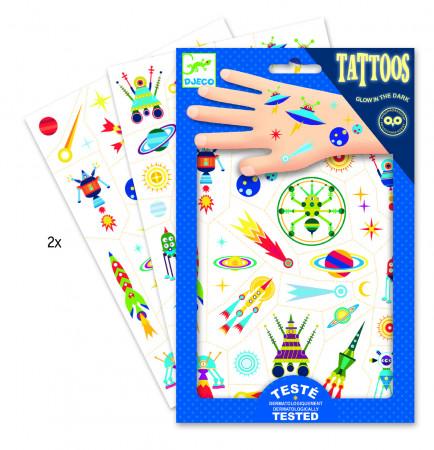 DJECO Body Art Tatuiruotės Keistasis kosmosas, DJ09590 DJ09590