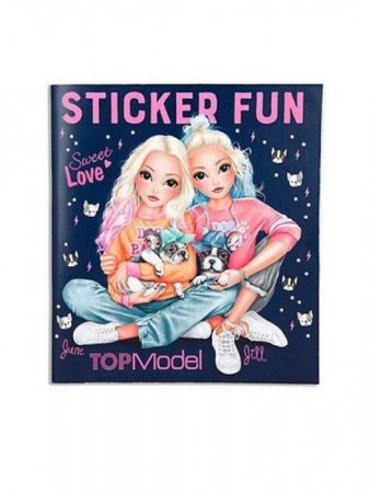 TOPMODEL Stickerworld Frenchie Lipdukų knyga, 10740 10740