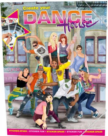 TOPMODEL spalvinimo knyga Sukurk savo šokių namą, 8479 8479
